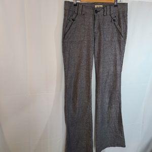 BeBop Grey wide leg dress pant